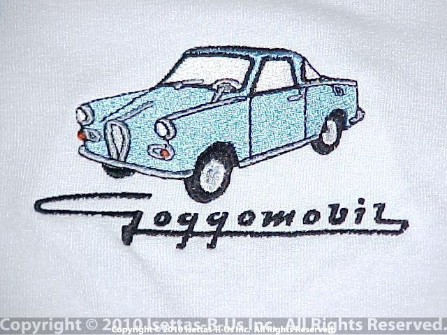 Light Blue embroidered Goggomobil coupe
