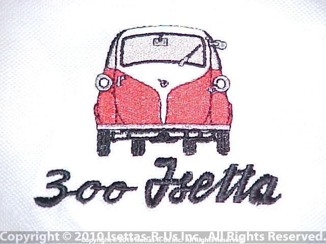 Red embroidered Isetta 300 model