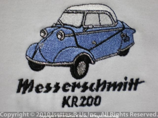 Light Blue embroidered Messerschmitt Kr 200 model