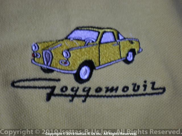 Pale Yellow embroidered Goggomobil coupe